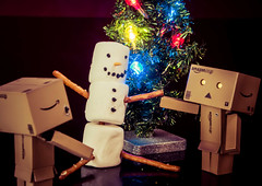 Danbo's Marshmellow Snowman (51/52) (vmabney) Tags: danbo danboard marshmellow snowman christmas christmastree toys toysonvacation 52weeks giveusyourbestshot 522016week51