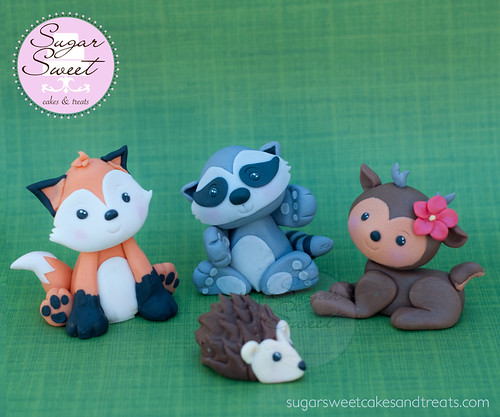 Woodland Critters Cake Toppers