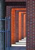 Passing The Last Arches (AnyMotion) Tags: brick ziegelstein sculpture skulptur art kunst architectur architektur sunshine sonnenschein 2016 frankfurt anymotion deutschenationalbibliothek dnb germannationallibrary frankfurtnordend hessen germany 7d2 canoneos7dmarkii winter