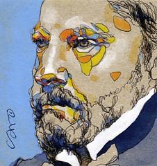 007-100faces-One face a day (k.ro001) Tags: 100faceschallenge face sketch croquis aixcroquis kro001 carolinemanceau trombine challenge portrait dailypainting onefaceaday
