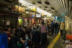 Dinner time (Dominic Sagar) Tags: fujifilm japan restaurant t050 t100 t200 x100s arches night railway chiyodaku tōkyōto jp