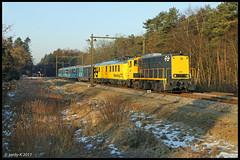 [NL] Driebergen 27-1-2017 | SHD 2205. (Jordy5834) Tags: shd 2205 driebergen cto panoramarail railway spoor trein dlok stichtinghistorischdieselmaterieel