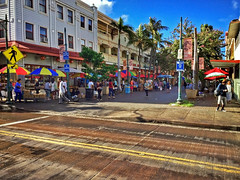 Kekaulike Pedestrian Mall (jcc55883) Tags: hawaii oahu kingstreet hotelstreet honolulu honoluluchinatown chinatown kekeulikestreet kekaulikemall ipad ipadair