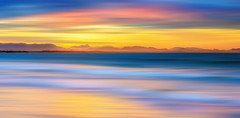 Tranquil Ocean (Elephas_a) Tags: australia byronbay nsw newsouthwales pacificocean beach blue capebyron clouds coast coastline dask goldenhour landscape longexposure ocean orange pink sea seascape seascepe serene shore sky sunset water waterscape yellow brilliant