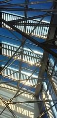 Verrière industrielle (janvier 2016) (She.was) Tags: verrière styleindustriel industrielle lumière reflets soleil cielbleu ciel architecture