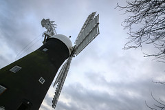 Holgate Windmill, January 2017 - 6 (nican45) Tags: 1020 1020mm 1020mmf456exdc 2017 29january2017 29012017 canon dslr eos70d hwps holgate holgatewindmill january slr sigma york clouds fantail mill sail sails sky wideangle windmill