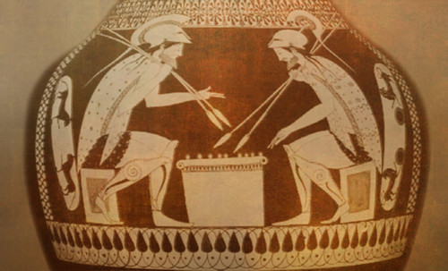 "Petteia - Ludus Latrunculorum  / Iconografía de las civilizaciones helenolatinas • <a style=""font-size:0.8em;"" href=""http://www.flickr.com/photos/30735181@N00/32522192655/"" target=""_blank"">View on Flickr</a>"