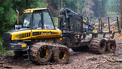 boys' toys (5) (grahamrobb888) Tags: nikon nikond800 nikkor50mmf18 birnamwood perthshire scotland dullweather trees industry forest mud
