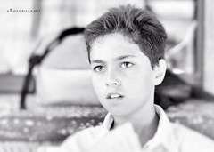 Asier 91 (rokobilbo) Tags: portrait asier shot blackandwhite look child thoughts street