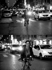 Mayastar [Pedala] nel[La Mia Città] sorridentissima (Urca) Tags: milano italia 2016 bicicletta pedalare ciclista ritrattostradale portrait dittico bike bicycle nikondigitale scéta biancoenero blackandwhite bn bw 94034 mayastar