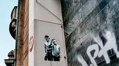 Beklebtes in der Stadt (Eyegelspy) Tags: streetart film analog 35mm bessa leipzig nokton voigtländer bessar2a