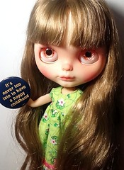 Blythe-a-Day June #25: Button: Marcelle's Instructive Protest