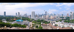 KL City viewed from JAWI | Panorama (AnNamir™ c[_]) Tags: panorama nikon islam malaysia tamron ramadhan klcc quran kltower photostitch jawi nationalmosque رمضان اسلام dayabumi klcity masjidnegara waach posmalaysia senibina d300s annamir bangunanktm tvalhijrah jubliemasmasjidnegara pemandangankldaribangunanjawi
