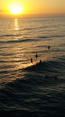 Waiting for Waves (New2Pics) Tags: ocean sunset surf waves sunsets surfing oceanside surfboards oceansidepier oceansidebeach wavesurfing paddleboards