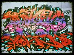 More Newcastle Grafitti! (hobbitbrain) Tags: door uk streetart color colour art newcastle paint grafitti urbanart padlock 2014
