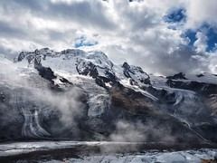 Misty Mountain Morning (Feldore) Tags: morning mist alps misty landscape switzerland moody swiss dramatic olympus glacier gornergrat peaks mchugh moraine em1 1240 feldore