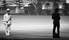 Ho Chi Minh Mausoleum (aaronjherron) Tags: street white black photography waiting guard chi ho minh
