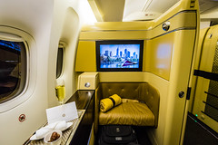 Etihad Airways B777 First Class (aanaravs) Tags: travel uae luxury unitedarabemirates stregis etihad