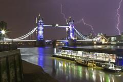Più Vicino / Closer (Tower Bridge, London, United Kingdom) (AndreaPucci) Tags: uk storm london night towerbridge lightning canonef24105mmf4lis canoneos60 andreapucci