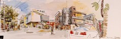 Panorama, Seoul_Seongsu-dong 서울 성수동 (velt.mathieu) Tags: street watercolor korea 서울 croquis corée urbansketching