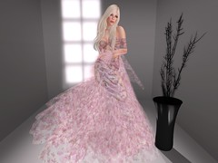 """Daring"" by Merivale (Full Front) - I just received this gown last night.  The response I iam hearing while shopping about this gown is remarkable.  Meri has made a beautiful gown for us all to wear at a very affordable price.  Limo ride to Merivale's maps.secondlife.com/secondlife/Alua/212/51/89"