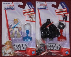 Hasbro - New Galactic Heroes (Darth Ray) Tags: new training star force with luke darth jedi remote heroes wars vader sith droid hasbro skywalker galactic