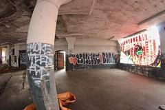 Xhale, Bonk (NJphotograffer) Tags: urban building abandoned philadelphia graffiti pennsylvania explore pa crew add philly bonk exhale xhale