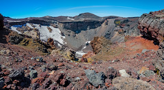 A Wider View of Mt. Fuji Crater (deletio) Tags: panorama snow mountains japan fuji crater mtfuji 2015 shizuokaken fujinomiyashi d700 nikkornc24mmf28