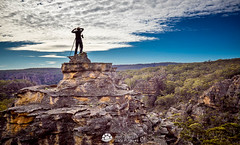 Gardens of Stone Tog on Top (Gary Hayes) Tags: blue mountains pagoda rocks bluemountains gos newnes wolgan unprotected stateforest benbullen gardensofstone