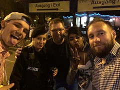 In Ludwigsvorstadt, Munchen were we met the Polizei and a few others!