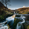 Head of the falls (derekgordon1) Tags: nikond7100 sigma1020 wideangle squarecrop 1x1 3shires derbyshire staffordshire cheshire peakdistrct peaceful desolate cold water waterscape waterfall rocks tree blue sky cloud grass movement slowshutter