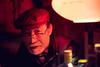 Kind Old Gentleman Bartender (Jon Siegel) Tags: nikon d810 50mm 12 nikon50mmf12ais 50mmf12 f12 man beard handsome charming hat glasses smart bartender bar barowner portrait portraiture night evening red lowlight goldengai shinjuku tokyo japan japanese