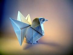 Rooster - Kunihiko Kasahara (Rui.Roda) Tags: origami papiroflexia papierfalten coq galo gallo hahn rooster kunihiko kasahara