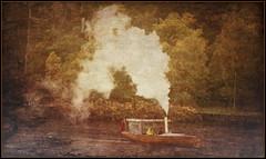 Steamer (williamwalton001) Tags: boats water weather woodlands framed fineart scotland steamer loch colourimage borders dockbay
