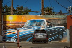 Damned minivan! (Thad Zajdowicz) Tags: mural painting wall art car minivan humor publicart zajdowicz 366 365 venicebeach losangeles california canon eos 5d3 5dmarkiii dslr digital outdoor outside availablelight color accident ef24105mmf4lisusm lightroom