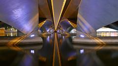 Symetry... (radimersky) Tags: night photo zdjęcie nocne noc singapore singapur odbicie woda water esplanade drive asia azja travel bridge most pod under lumix dmclx100 marina bay city miasto symetry symetria reflection wet outdoor illumination oświetlenie 3840x2160 新加坡 சிங்கப்பூர cityspace lights światła panasonic image