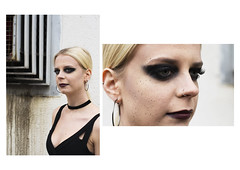 Jen 1&2 (Callum Dickson Photography) Tags: fashion makeup make up eyes face portrait woman girl urban decay grunge gothic dark emo artist wall alley street scotland glasgow nikon 50mm 50