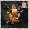 Reindeer Games III: (nefasth) Tags: reindeergamesiiiriseofrudolph frankkozik dunny kidrobot xmas vinyltoys jouet toy kozik hipstamatic