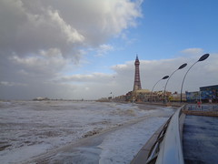 Strong Winds and Stormy Seas hit Blackpool (j.a.sanderson) Tags: strongwinds stormyseas hit blackpool blackpooltower sea sky wind