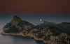 Full Moon (Mika Laitinen) Tags: canon5dmarkiv europe mallorca miradorescolomer spain cliff color dusk fullmoon landscape longexposure moon mountain nature nightfall ocean outdoor rock sea seascape shore sky sunset water winter pollença islasbaleares es