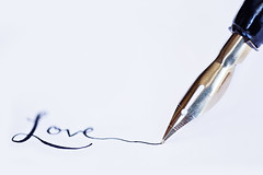 :: love :: (mjcollins photography) Tags: white paper quill ink pen old fashioned write love macro monday