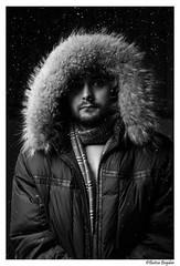 (Bogdan_b) Tags: romania codlea sony a77ii 1680mm cz bw portrait falling snow flash softbox