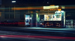 Fast Food - Slow Shutter (No_Mosquito) Tags: fast food crossprocess vienna wien night longexposure canon powershot g7x mark ii city life street austria argos falafel kebap light trails greek urban digital filter slow shutter manual stacking turkish döner nd nd8
