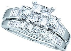 Ladies 10k White Gold 1 Ct Princess Cut Diamond Wedding Engagement Bridal Ring Set (goodies2get2) Tags: 500to1000 amazoncom bestsellers diamond gold toprated