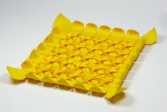 🌻 Sunflower Tessellation (Michał Kosmulski) Tags: origami tessellation sunflower flower molecules petals leaves tantpaper michałkosmulski yellow