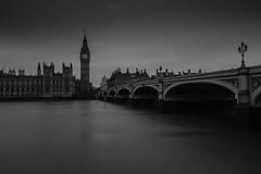 Westminster (selvagedavid38) Tags: big ben parliment london thames westminster bridge river nd neutral density filter mono black white