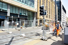 Lower Mosley Street to Mosley Street closure. 30-05-15. Manchester Metrolink. (Fred Collins afloat and ashore) Tags: lightrail lowermosleystreet manchester metrolink mosleystreet princess stpeterssquare street