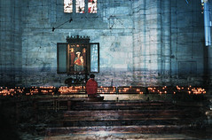 Verona Cathedral x Ransom Ashley (ransomashley) Tags: travel boy italy abstract art film church kids youth analog 35mm vintage religious exposure candles darkness cathedral ashley fine documentary double retro christian verona innocence mass virgins cinematic effect prayers ransom transitions