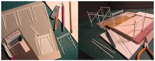 Making Scaffolding in 1:24th Scale