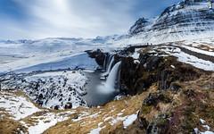 Kirkjufoss (dieLeuchtturms) Tags: longexposure schnee winter wallpaper snow island iceland europa europe wasserfall cascade cataract snfellsnes langzeitbelichtung longtimeexposure 16x10 8x5 kirkjufoss vesturland